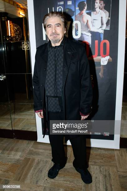 Singer Serge Lama attends the 'Un Poyo Rojo' Theater Play celebrates its 10th Anniversary at Theatre Antoine on May 17 2018 in Paris France