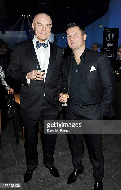 Singer Sergey Mazaev and gymnast Alexei Nemov attend the IWC Top Gun Gala Event at 22nd SIHH High Jewellery Fair on at the Palexpo Exhibition Hall...