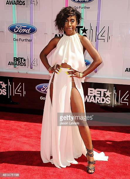 Singer Sevyn Streeter attends the 2014 BET Awards at Nokia Plaza LA LIVE on June 29 2014 in Los Angeles California