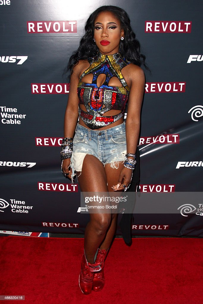 Singer Sevyn Streeter attends the Revolt Live hosts exclusive 'Furious 7' takeover with musical performances from the official movie soundtrack held at Revolt Live Studios on April 1, 2015 in Hollywood, California.