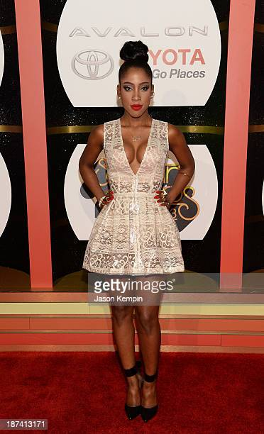 Singer Sevyn Streeter attends the Soul Train Awards 2013 at the Orleans Arena on November 8 2013 in Las Vegas Nevada