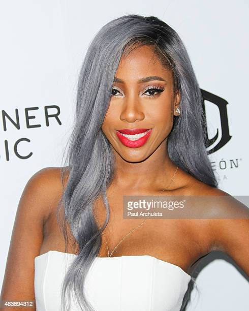 Singer Sevyn Streeter attends the Warner Music Group annual GRAMMY celebration at Chateau Marmont on February