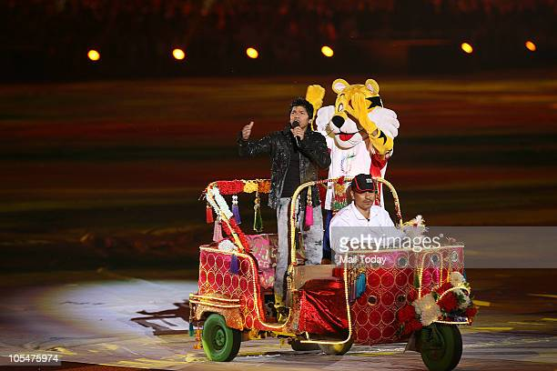 Singer Shaan along with Shera performing at the closing ceremony of the 19th Commonwealth Games at Jawaharlal Nehru Stadium in New Delhi on Thursday...