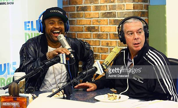 Singer Shaggy talks with Elvis Duran at the 'The Elvis Duran Z100 Morning Show' to celebrate Elvis Duran's birthday at Z100 Studio on August 14 2015...