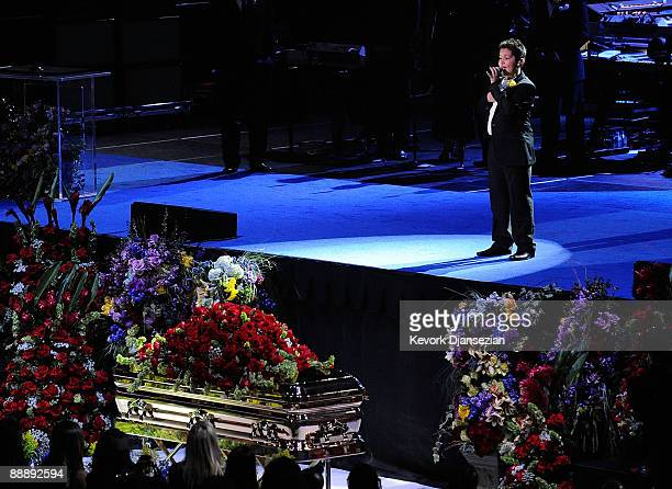 Singer Shaheen Jafargholi performs at the Michael Jackson public memorial service held at Staples Center on July 7 2009 in Los Angeles California...