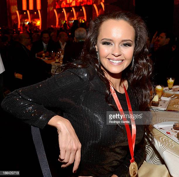 Singer Shaila Durcal attends the 2012 Person of the Year honoring Caetano Veloso at the MGM Grand Garden Arena on November 14 2012 in Las Vegas Nevada