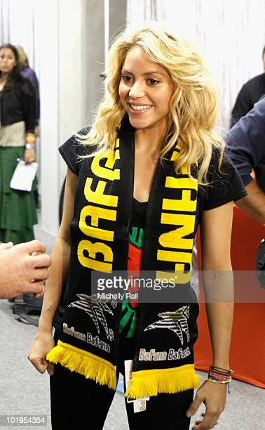 Singer Shakira ahead of the FIFA World Cup Kick-off Celebration Concert at the Orlando Stadium on June 10, 2010 in Johannesburg, South Africa.