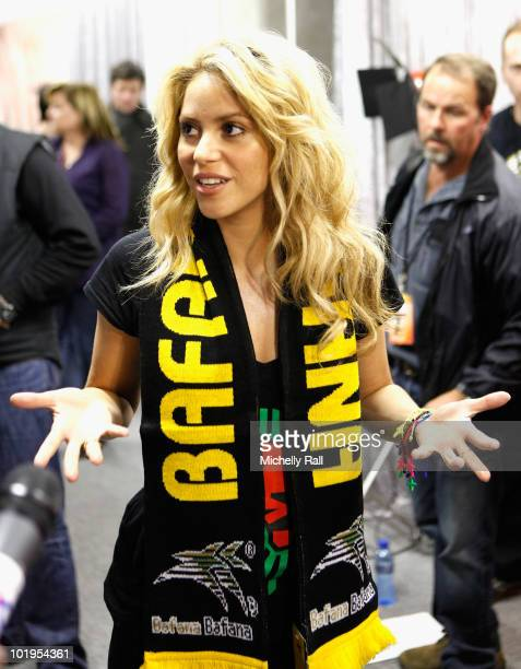 Singer Shakira ahead of the FIFA World Cup Kickoff Celebration Concert at the Orlando Stadium on June 10 2010 in Johannesburg South Africa