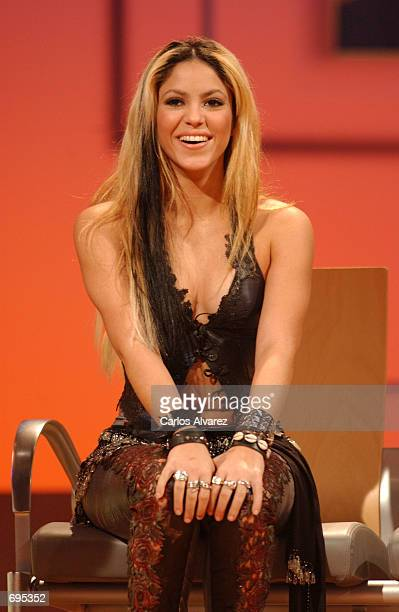 Singer Shakira answers questions during an interview prior to appearing on the television show called 'Operacion Triunfo' a show where young people...