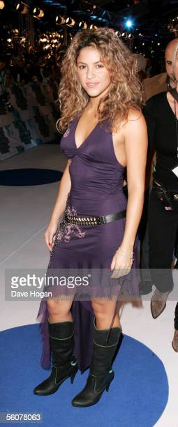 Singer Shakira arrives at the 12th annual MTV Europe Music Awards 2005 at the Atlantic Pavilion on November 3, 2005 in Lisbon, Portugal.