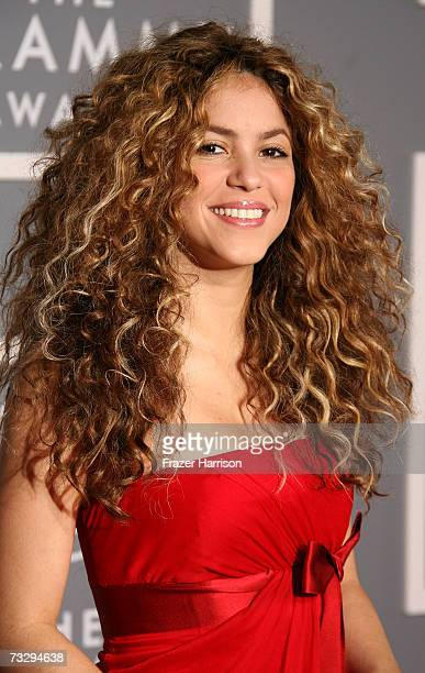 Singer Shakira arrives at the 49th Annual Grammy Awards at the Staples Center on February 11 2007 in Los Angeles California