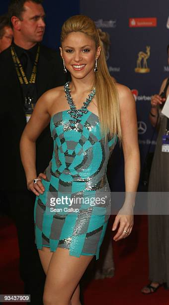 BER 26 Singer Shakira arrives to the Bambi Awards 2009 at the Metropolis Hall at the Filmpark Babelsberg on November 26 2009 in Potsdam Germany