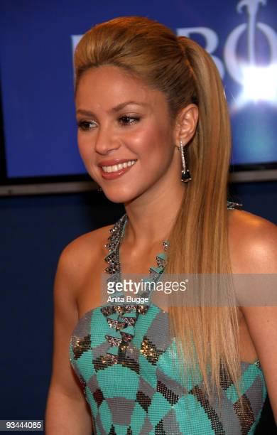 Singer Shakira arrives to the Bambi Awards 2009 at the Metropolis Hall at the Filmpark Babelsberg on November 26 2009 in Potsdam Germany