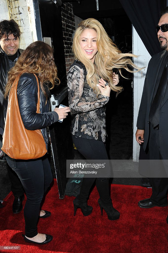 Singer Shakira attends NBC's 'The Voice' Red Carpet Event at The Sayers Club on April 3, 2014 in Hollywood, California.