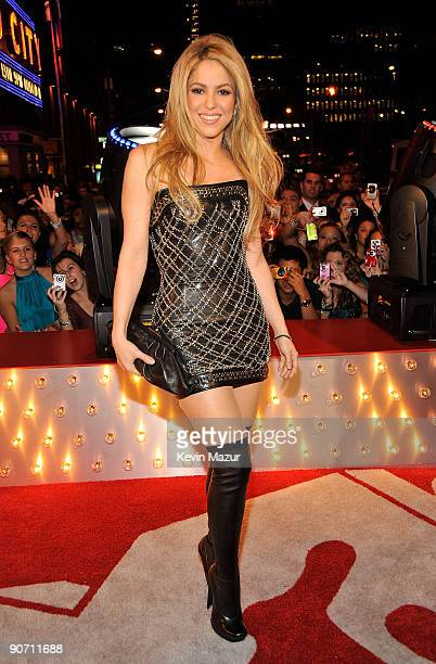 Singer Shakira attends the 2009 MTV Video Music Awards at Radio City Music Hall on September 13 2009 in New York City