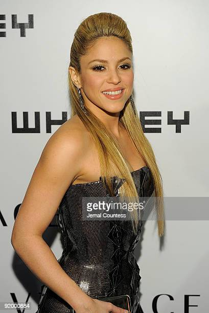 Singer Shakira attends the 2009 Whitney Museum Gala at The Whitney Museum of American Art on October 19 2009 in New York City