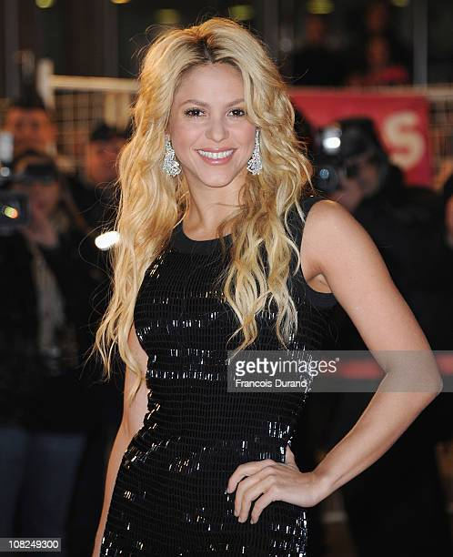 Singer Shakira attends the NRJ Music Awards 2011 on January 22 2011 at the Palais des Festivals et des Congres in Cannes France