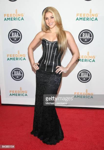 Singer Shakira attends the RIAA and Feeding America's Inauguration Charity Ball at Ibiza on January 20 2009 in Washington DC