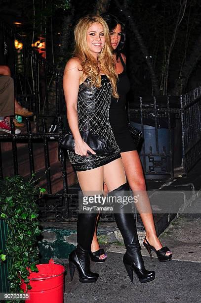 Singer Shakira leaves the Waverly Inn on September 13 2009 in New York City