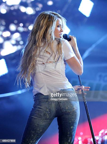 Singer Shakira performs at 1027 KIIS FM's 2014 Wango Tango at StubHub Center on May 10 2014 in Los Angeles California