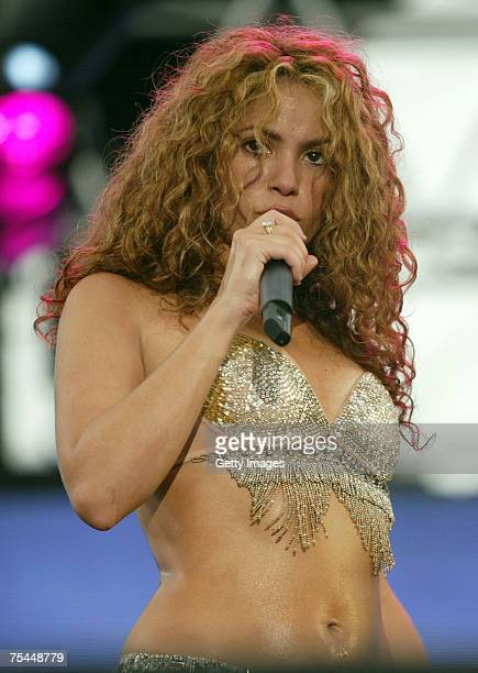 Singer Shakira performs during the Thisday Music Festival on July 15 2007 in Lagos Nigeria