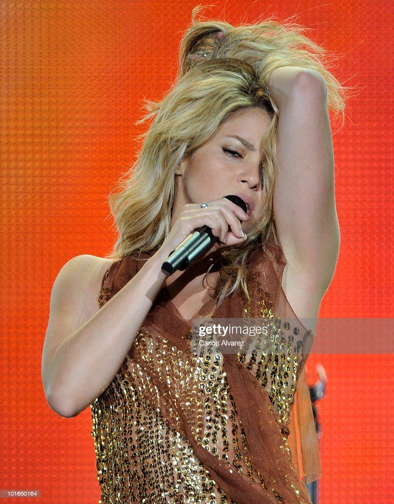 Singer Shakira performs on stage during Rock in Rio Madrid Festival on June 5, 2010 in Arganda del Rey, Spain.
