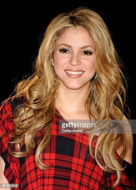 Singer Shakira presents her new album La Loba at Hotel Puerta de America on September 28 2009 in Madrid Spain