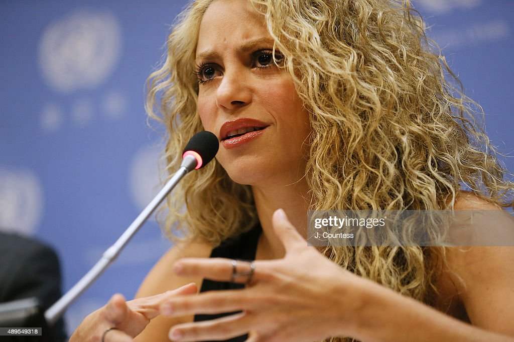 Shakira Attends A Meeting Of The Minds: Investing In Early Childhood Development As The Foundation For Sustainable Development : News Photo