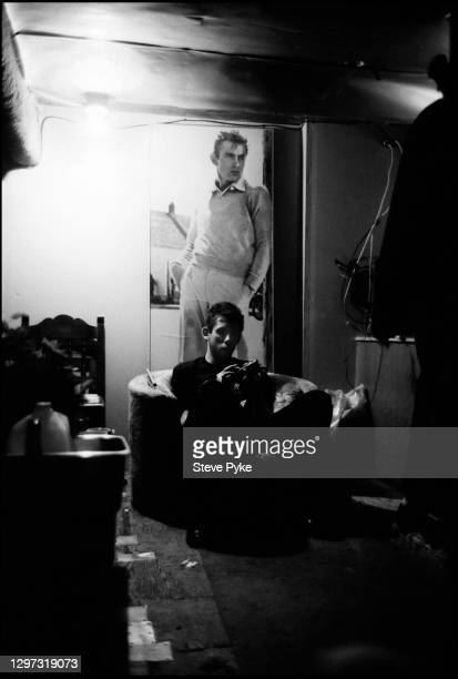 Singer Shane MacGowan of The Pogues, backstage, Austin, Texas, 15th June 1988.
