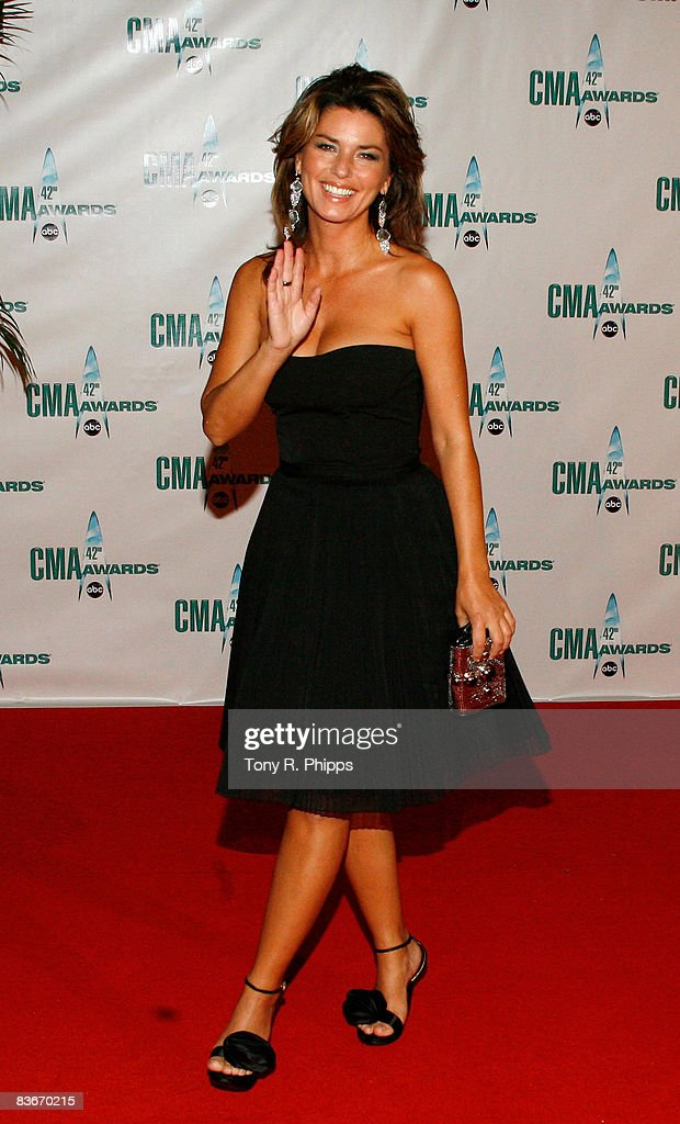 Singer Shania Twain attends the 42nd Annual CMA Awards at the Sommet Center on November 12, 2008 in Nashville, Tennessee.