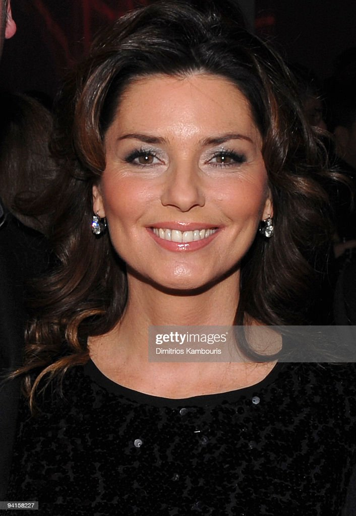 Singer Shania Twain attends the launch of VEVO, the world's premiere destination for premium music video and entertainment at Skylight Studio on December 8, 2009 in New York City.