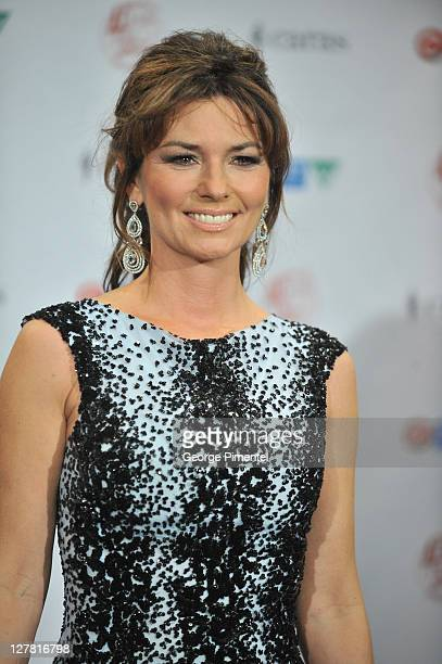 Singer Shania Twain backstage in the press room at the 2011 Juno Awards at the Air Canada Centre on March 27 2011 in Toronto Canada