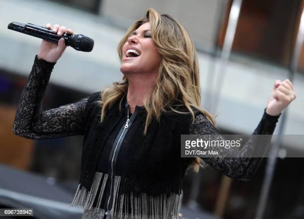 Singer Shania Twain is seen on June 16 2017 in New York City