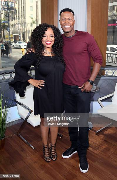Singer Shanice and husband Flex Alexander visit Hollywood Today Live at W Hollywood on July 27 2016 in Hollywood California
