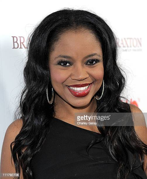 Singer Shanice arrives at the celebration for the new WE tv series Braxton Family Values at The London Hotel on April 6 2011 in West Hollywood...