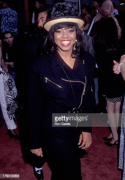 Singer Shanice attends the Boomerang Hollywood Premiere on June 28 1992 at the Mann's Chinese Theatre in Hollywood California