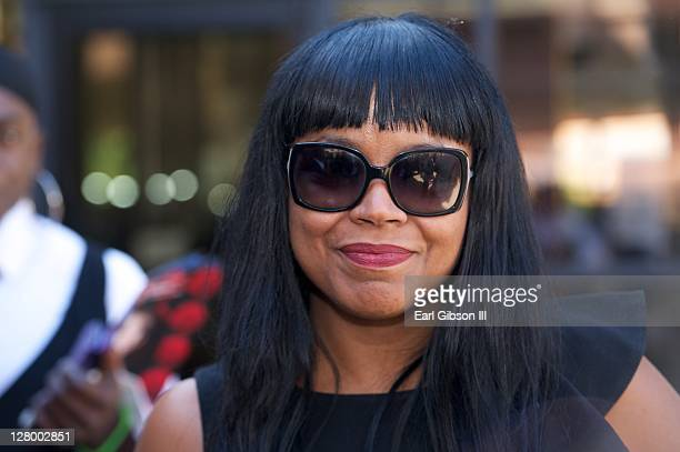 B singer Shanice attends the Memorial Service of Vesta Willaims on October 4 2011 in Los Angeles California