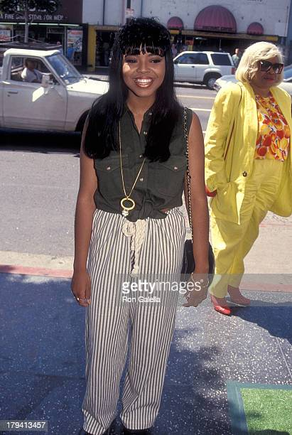Singer Shanice attends The Meteor Man Hollywood Premiere on July 31 1993 at the Hollywood Pacific Theatre in Hollywood California