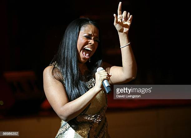 Singer Shanice performs at the Tinseltown To Gotham PreOscar Event at the Regent Beverly Wilshire on March 2 2006 in Beverly Hills California