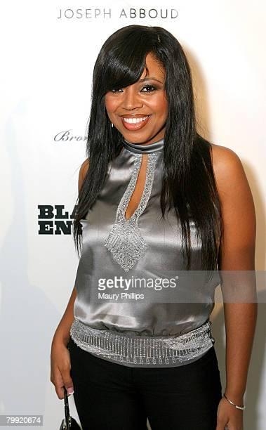 Singer Shanice Wilson arrives at the Black Enterprise AllStar gathering celebrating Oscar week held at the Beverly Hilton Hotel on February 20 2008...
