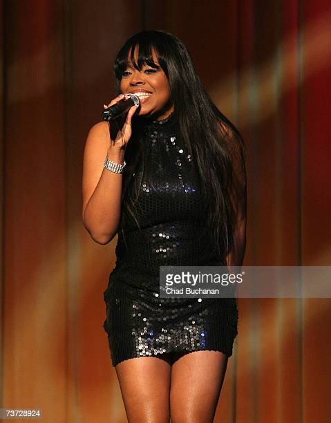 R B singer Shanice Wilson performs at the 13th Annual NAMIC Vision Awards at the Regent Beverly Wilshire Hotel on March 27 2007 in Beverly Hills...