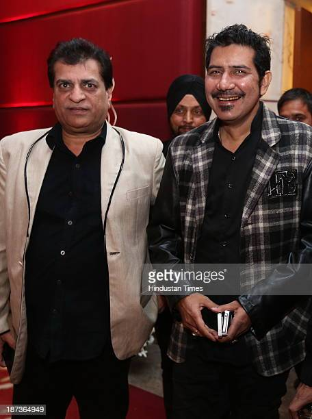 Singer Shankar Sahney with Prem Bhatia during prewedding party of singer Daler Mehndi's daughter Ajit Kaur with Navraj Singh son of singer Hans Raj...