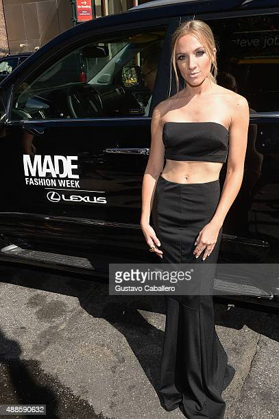 Singer Shannon Bex seen around at Skylight at Moynihan Station Spring 2016 New York Fashion Week The Shows Day 7 on September 16 2015 in New York City