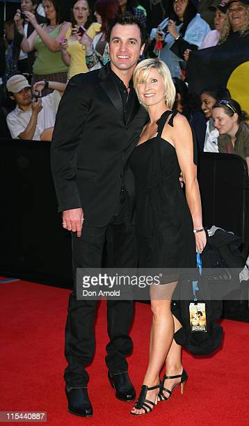 Singer Shannon Noll and his wife arrive for the world premiere of 'Australia' at the George Street Greater Union Cinemas on November 18 2008 in...