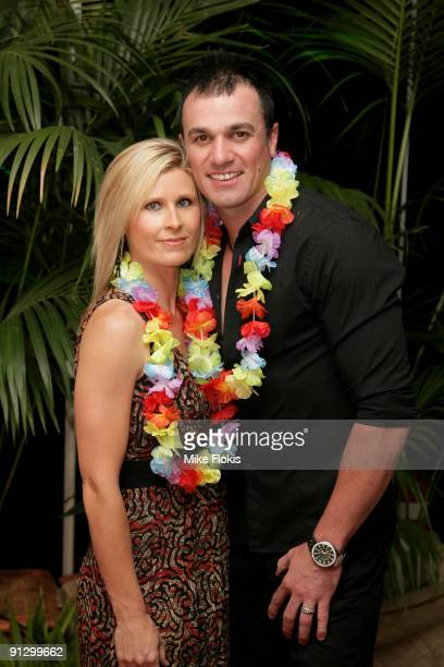 Singer Shannon Noll and wife Rochelle arrive for the premiere of 'Couples Retreat' at the Event Cinemas George Street on October 1 2009 in Sydney...