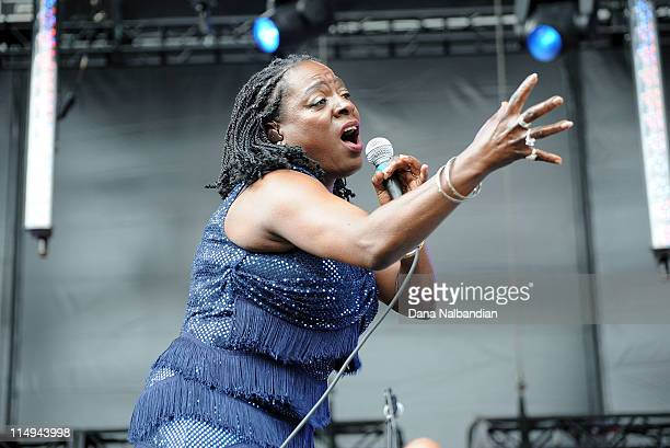 Singer Sharon Jones of Sharon Jones & The Dap-Kings performs at Sasquatch Festival day 4 at The Gorge on May 30, 2011 in George, Washington.