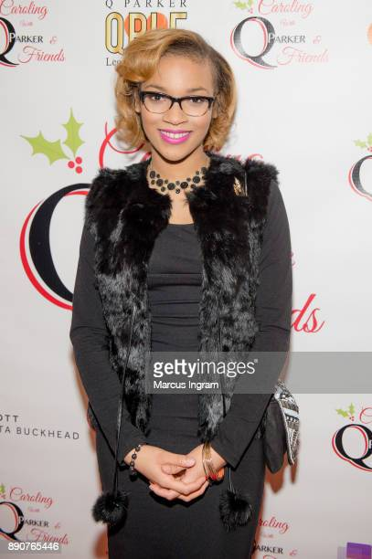 Singer Sharon Moore attends the '5th Annual Caroling with Q Parker and Friends' at Atlanta Marriott Buckhead on December 11 2017 in Atlanta Georgia