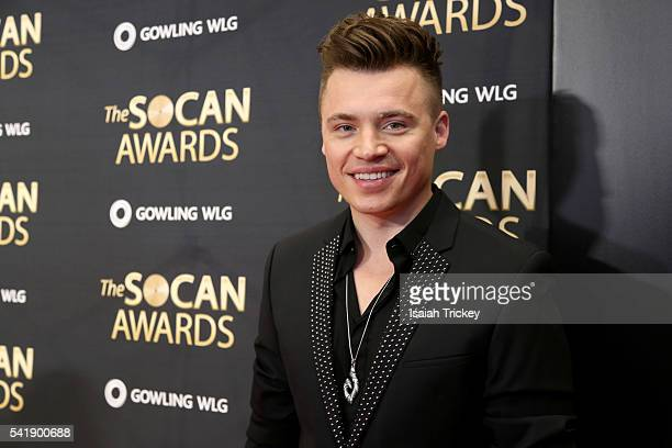 Singer Shawn Hook arrives at The 27th Annual SOCAN Awards Gala at the Sheraton Centre Hotel on June 20 2016 in Toronto Canada