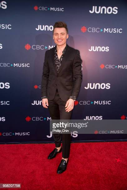 Singer Shawn Hook attends the red carpet arrivals at the 2018 Juno Awards at Rogers Arena on March 25 2018 in Vancouver Canada