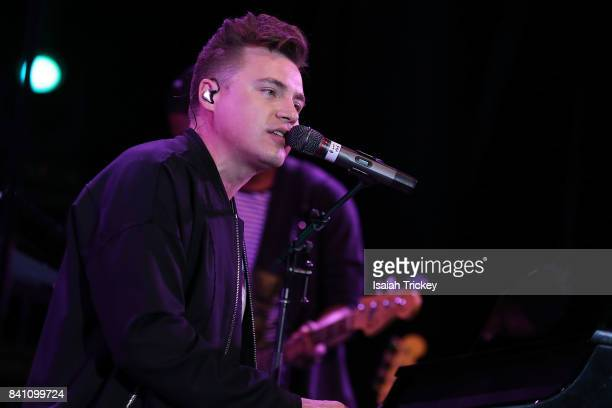 Singer Shawn Hook performs on the CNE Bandshell stage during the Canadian National Exhibition on August 30 2017 in Toronto Canada